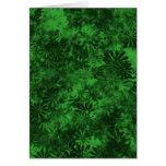 Floral verde felicitación