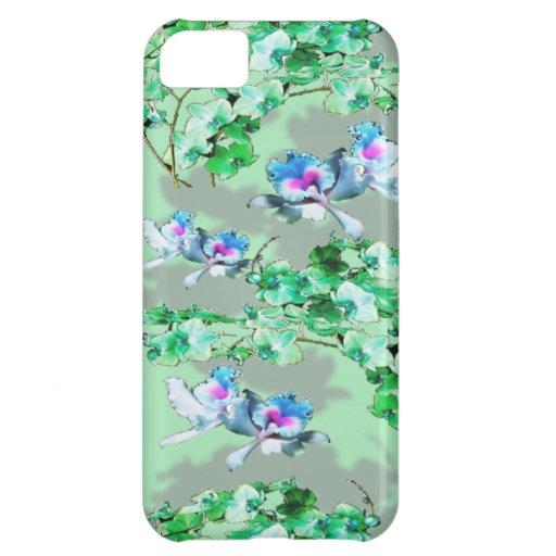 Floral verde funda para iPhone 5C