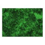 Floral verde invitación