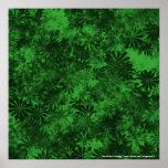 Floral verde posters