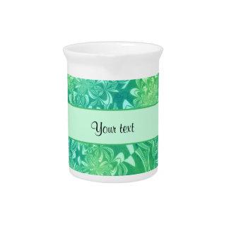 Floral verde retro jarron