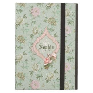 Floral verde y rosado elegante femenino