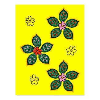 Floral Verdure Petite Postcard