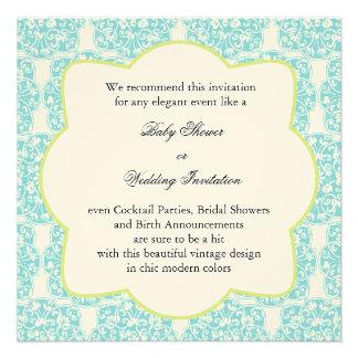Floral Vine Medallion Invitation