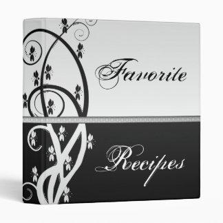 Floral Vine Recipe Book 3 Ring Binder