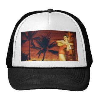 Floral vintage beach hawaii fashion mesh hat