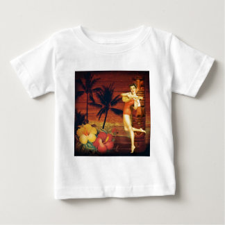 Floral vintage beach hawaii fashion infant t-shirt