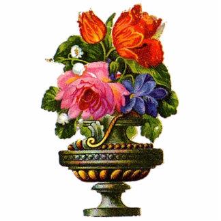 Floral Vintage Decor Photo Sculpture