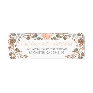 Floral Vintage Fall Woodland Garden Wedding Label