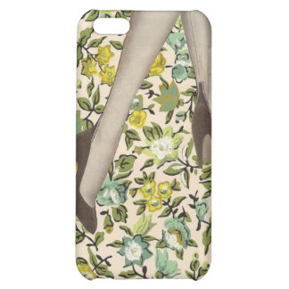 Floral Vintage Flowers and Legs iPhone 4 Skin Case For iPhone 5C