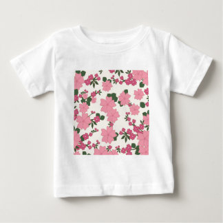 floral vintage flowers wallpaper background baby T-Shirt