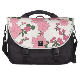 floral vintage flowers wallpaper background laptop messenger bag