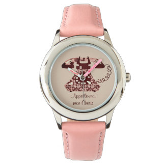 Floral Vintage Funny Phone Retro Chic Ladylike Watch