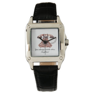 Floral Vintage Funny Phone Retro Chic Ladylike Wrist Watch