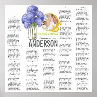 Floral Vintage Modern Mason Jar Seating Chart