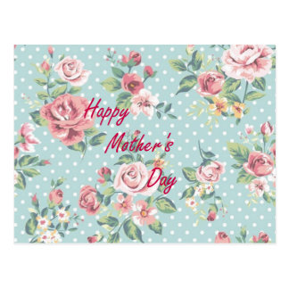 Floral Vintage Print - Happy Mother's Day Postcard