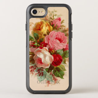 Floral Vintage Rose Bouquet OtterBox Symmetry iPhone 8/7 Case