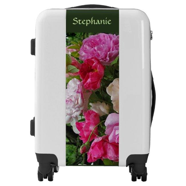 Floral Vintage Rose Garden Flowers Luggage