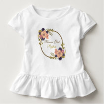 Floral Vintage Rustic Romantic Flower Girl Baby Toddler T-shirt