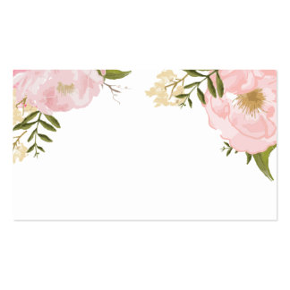 Floral Vintage Spring Wedding Blank Custom Card Double-Sided Standard Business Cards (Pack Of 100)