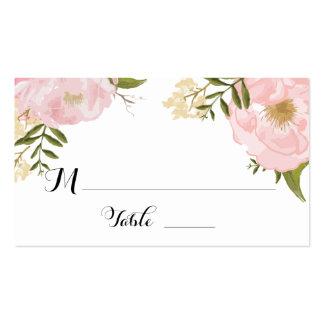 Floral Vintage Spring Wedding Escort Place Card