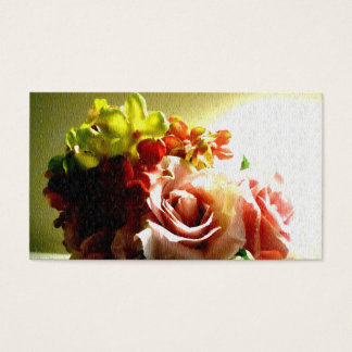 Floral Vintage Textured Painting Business Cards