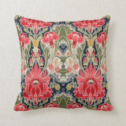 Floral Vintage Victorian Pillow Throw