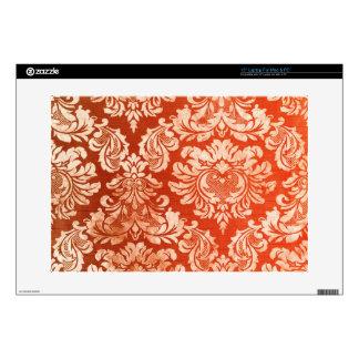 """Floral vintage wallpaper background 15"""" laptop skins"""
