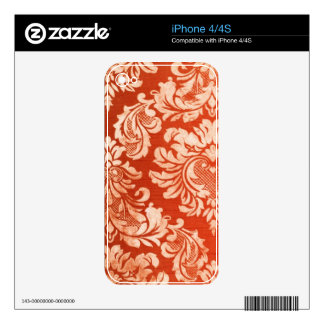 Floral vintage wallpaper background skins for the iPhone 4