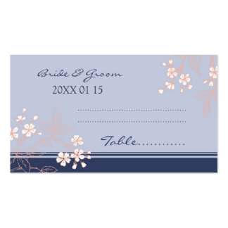 Floral Vintage Wedding Table Place Setting Cards Double-Sided Standard Business Cards (Pack Of 100)
