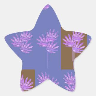 floral violet star sticker