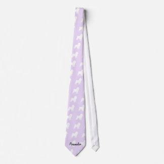 Floral violeta del Affenpinscher Corbatas
