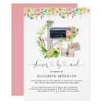 Floral Virtual Bridal Shower by Mail Invitation
