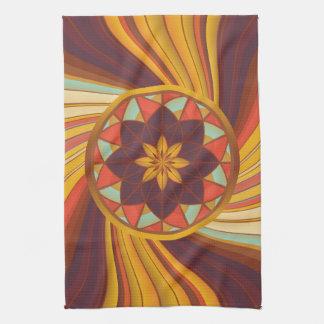 Floral vortex kitchen towel