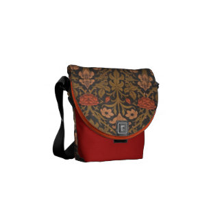 Floral W.Morris Pattern Messenger Bag