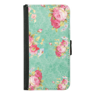 floral wallet phone case for samsung galaxy s5