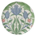 Floral wallpaper design melamine plate