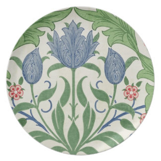 Floral wallpaper design melamine plate