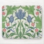 Floral wallpaper design mouse pad