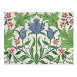 Floral wallpaper design postcards