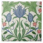 Floral wallpaper design tile