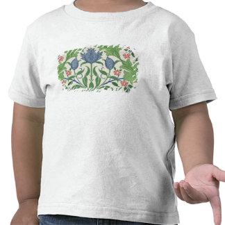 Floral wallpaper design shirts