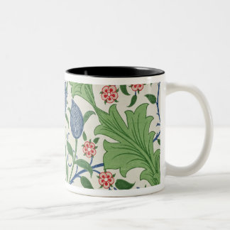 Floral wallpaper design Two-Tone coffee mug