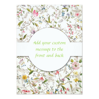 Floral Wallpaper Pattern Card