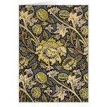 Floral Wallpaper Vintage Designer Pattern Greeting Card