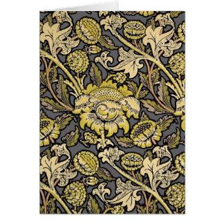 Floral Wallpaper Vintage Designer Pattern Card