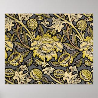 Floral Wallpaper Vintage Designer Pattern Poster
