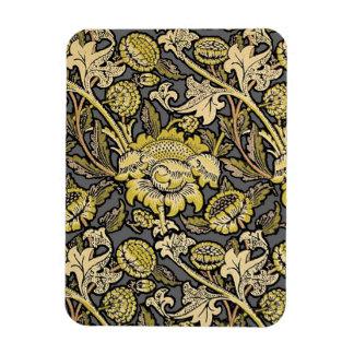 Floral Wallpaper Vintage Designer Pattern Rectangular Photo Magnet