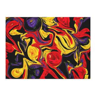 Floral Warp Canvas Print