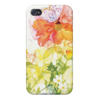 floral water color cover for iPhone 4